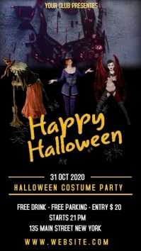 HAPPY HALLOWEEN COSTUME PARTY Instagram Story template