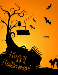 Happy Halloween Day Flyer (format US Letter) template