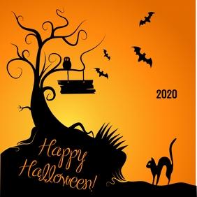Happy Halloween Day Instagram Post template