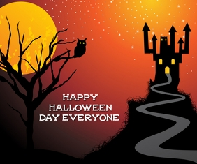 HAPPY HALLOWEEN DAY POSTER 10 TEMPLATE Rettangolo medio