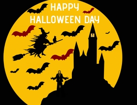 HAPPY HALLOWEEN DAY POSTER 5 TEMPLATE Ulotka (US Letter)