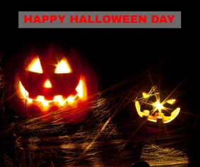 HAPPY HALLOWEEN DAY POSTER 7 TEMPLATE Retângulo grande