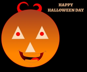 HAPPY HALLOWEEN DAY POSTER 9 TEMPLATE Grand rectangle
