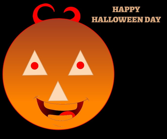 HAPPY HALLOWEEN DAY POSTER 9 TEMPLATE 巨型广告