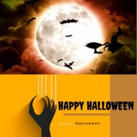 happy halloween Publicação no Instagram template