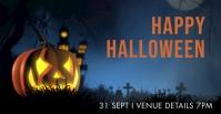 Happy Halloween Facebook-gebeurtenisomslag template
