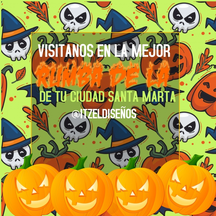 happy halloween Album Cover template
