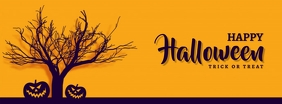 Happy Halloween Facebook Omslag Foto template