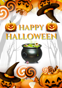 HAPPY HALLOWEEN A4 template