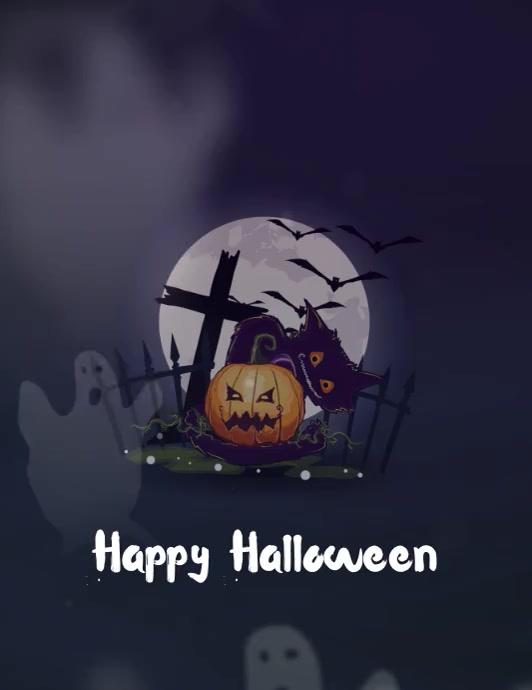 Happy Halloween Volante (Carta US) template
