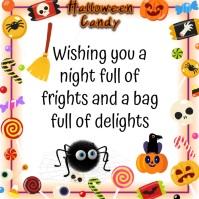 happy halloween Instagram-Beitrag template