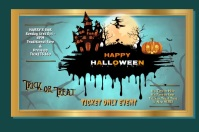 Happy Halloween Póster template