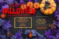 Happy Halloween โปสเตอร์ template