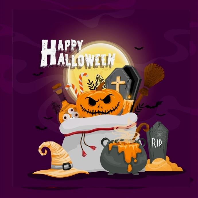 Happy Halloween Designer Template Logo