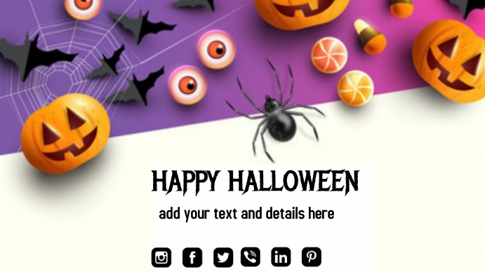 Happy Halloween Flyer Presentatie (16:9) template
