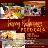 Happy halloween flyer Instagram-opslag template