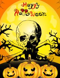 Happy Halloween flyer Volante (Carta US) template