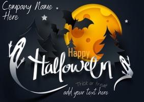 Happy Halloween Flyer Postal template
