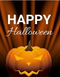 Happy Halloween flyer ใบปลิว (US Letter) template