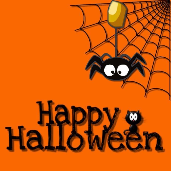 image regarding Happy Halloween Printable identified as Pleased Halloween Template PosterMyWall