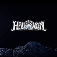 happy halloween GAMING LOGO post template Logotipo