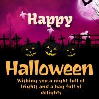 Happy halloween greeting card Instagram-Beitrag template