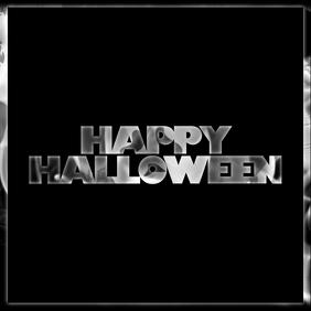 Happy Halloween Instagram post greeting card template