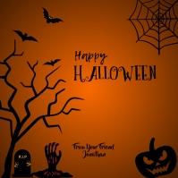 Happy Halloween Instagram post template Instagram-Beitrag