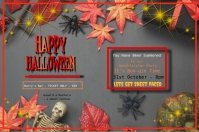 Happy Halloween Party โปสเตอร์ template
