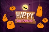 happy halloween party design Poster template