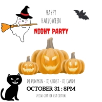 Happy Halloween party invitation card for hol Instagram Post template