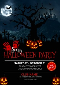Happy Halloween Party Video Invitation Templa