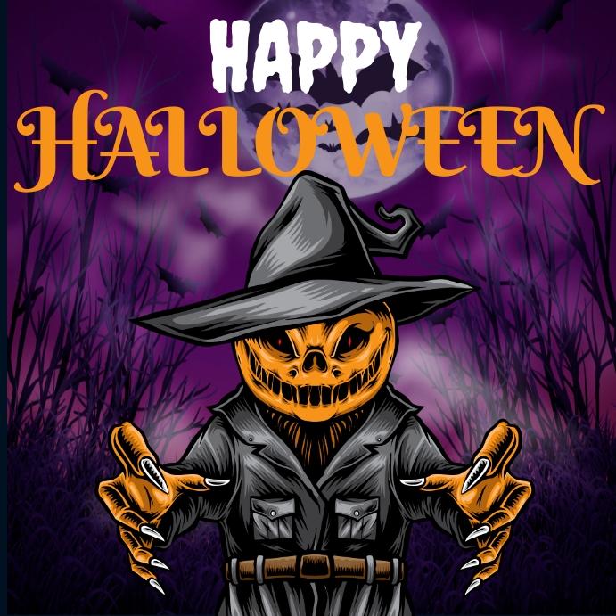 happy halloween poster Publicación de Instagram template