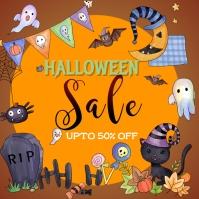 happy halloween poster Instagram Plasing template