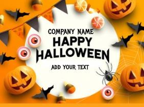 Happy Halloween poster Presentation template