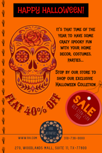Happy Halloween Poster Flyer, Invite template