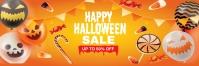 Happy Halloween sale Bannière 2' × 6' template