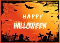 Happy Halloween Template Briefkaart