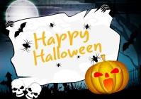 Happy Halloween Template Postcard