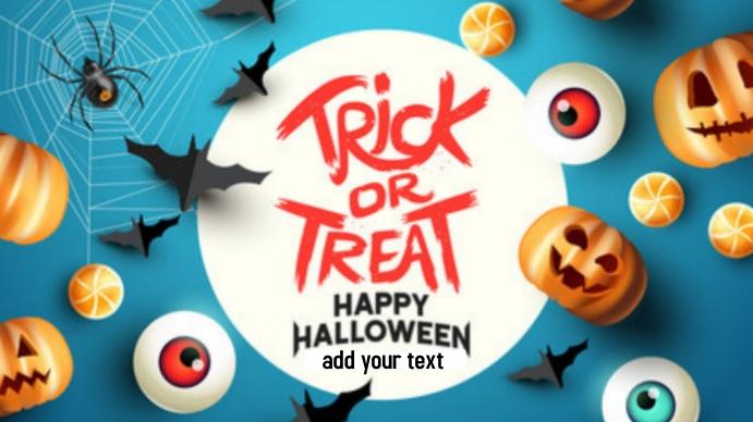 Happy Halloween trick or Treat Presentación (16:9) template