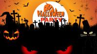happy Halloween Twitter Post template