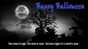 Happy Halloween Witch Music Video Digitale Vertoning (16:9) template