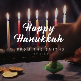 Happy Hanukkah Kwadrat (1:1) template
