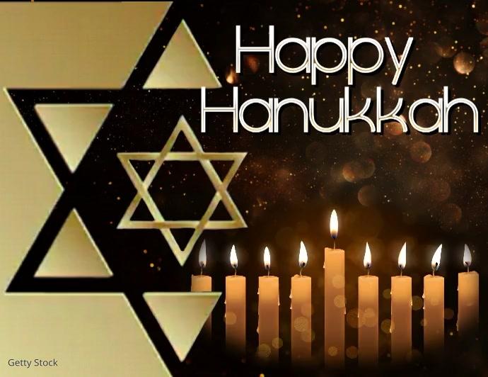 Happy Hanukkah Pamflet (Letter AS) template