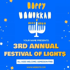 HAPPY HANUKKAH EVENT AD SOCIAL MEDIA TEMPLATE
