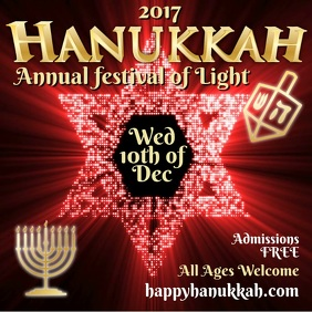 Happy Hanukkah Festival Instagram