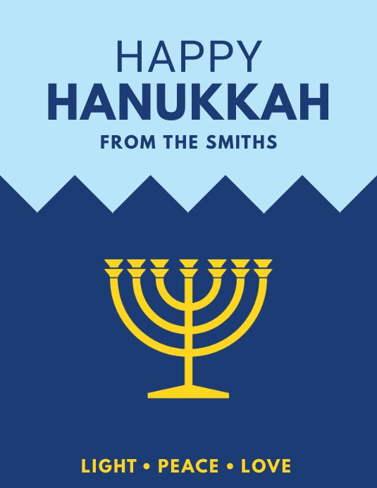 Happy Hanukkah Flyer Volante (Carta US) template