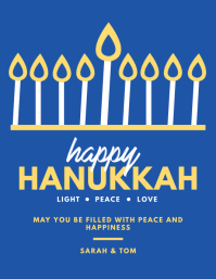 Happy Hanukkah Greetings Flyer
