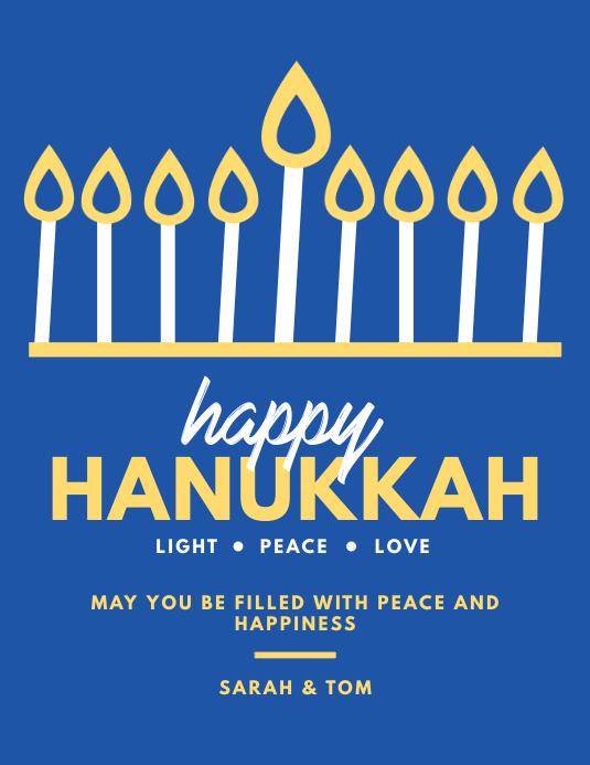 Happy Hanukkah Greetings Flyer