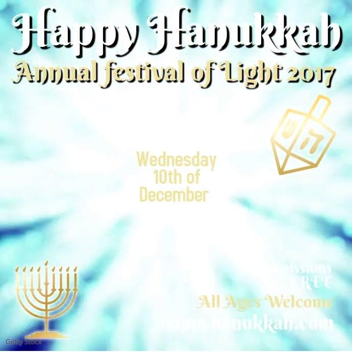 Happy Hanukkah Instagram Template